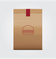 paper bag package vector image vector image