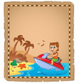 parchment with travel theme 4 vector image vector image