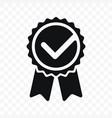 quality check ribbon icon product certified or vector image vector image