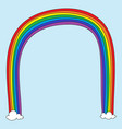 rainbow doodle vector image vector image