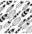Seamless indian feathers vector image