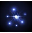 Shining star Glow spot vector image