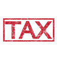 stamp text tax vector image