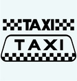 Taxi icons set vector image