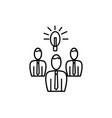 team brainstorm icon vector image