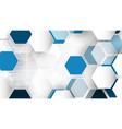technological system encryption future hexagonal vector image vector image