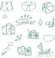 Travel at summer doodle vector image vector image