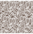 vintage pumpkin seamless pattern vector image vector image