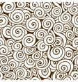 White and brown seamless wave pattern Seamless vector image vector image