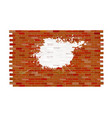 white painted brick wall pattern vector image