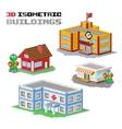 Buildings shop hospital vector image
