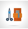 Manicure set flat color icon vector image