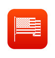 american flag icon digital red vector image