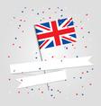 British flag over festive background vector image