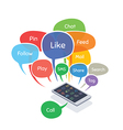 smartphone with social media concept vector image