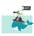 Cute pirates card vector image