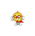 a cartoon yellow christmas ball wearing costume vector image vector image