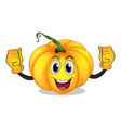 A strong squash with a smiling face vector image vector image