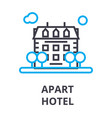apart hotel thin line icon sign symbol vector image vector image
