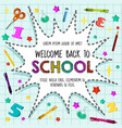 back to school sationery pattern poster