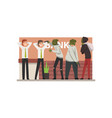 bank robbery group of male criminals in masks vector image vector image
