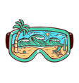 beach and glasses vector image