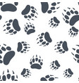 bear claw bear footprint seamless pattern vector image vector image