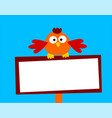 beautiful and funny of a small bird vector image vector image