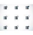 black database icons set vector image vector image