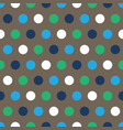 blue and green polka dots on gray background vector image vector image