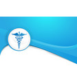 blue and white abstract medicine and science vector image vector image