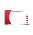 business card red and white background imag vector image