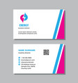 business card template with logo - concept design vector image vector image