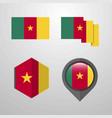 cameroon flag design set vector image