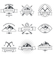 Camping mountain adventure hiking explorer vector image vector image