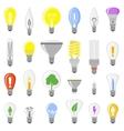 Cartoon lamps light bulb vector image vector image