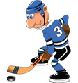 Cartoon sports player vector image vector image