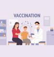 children vaccination pediatrician doctor make vector image