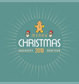 christmas card design with elegant design with vector image