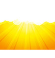 clouds with rays yellow background vector image vector image