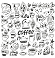 coffee cups - doodles set vector image vector image