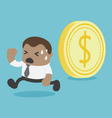 coin is rolling can crushed him african vector image