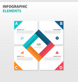 colorful square business infographics elements vector image vector image