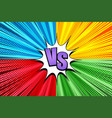 comic duel bright explosive concept vector image vector image