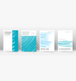cover page design template minimal brochure layou vector image vector image