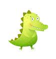 cute bacrocodile or alligator kids character vector image vector image