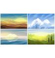 desert iceberg forest mountains landscape vector image vector image