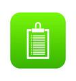 document plan icon digital green vector image