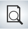 document with magnifying glass icon search vector image vector image