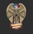 eagle america with sword independenc vector image vector image